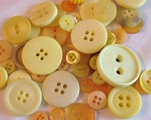 Yellow Buttons By The Cup, Scrapbooking Buttons, Craft Buttons, Cardmaking Buttons, Sewing Buttons, Buttons In Solid Colors