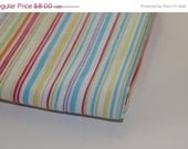 Final Clearance 75% OFF Stripe Party -1 yard vintage sheet fabric - vintage sewing quilting fabric