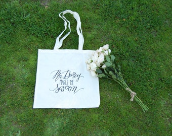 Mr Darcy Makes Me Swoon Cotton Tote Bag