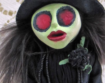 Elphaba, Wicked Witch of The West - Wizard of Oz Art Doll