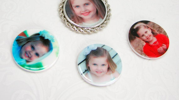 Replacement Photo Tiles for the Interchangeable Coin Frame Pendant - CT - Pendant NOT INCLUDED!