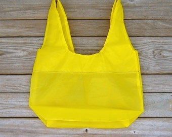 Yellow Water Resistant Zero Porosity Nylon Ripstop Parachute Market Bag