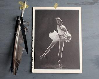 Vintage Ballerina Print, Vintage Ballet Print Dance Photograph Ballet, Rosella Hightower in Swan Lake