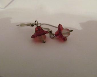 red flower dangles