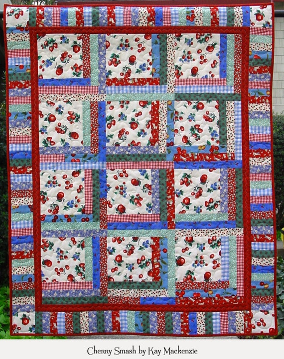 Dog Cabin Theme Quilt Book Log Cabin Style Quilt Pattern