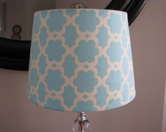 Lamp Shade in Taza Tarika blue