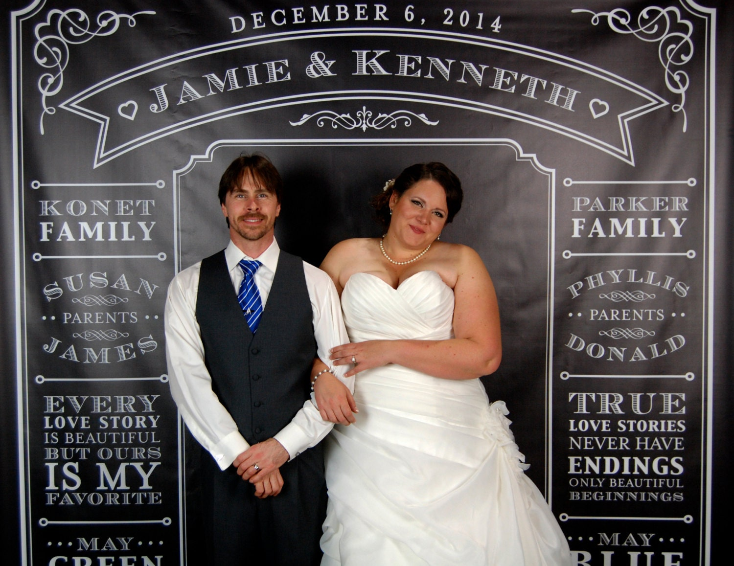 Personalized Photo Booth Backdrop Wedding Reception