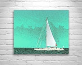 Sailing Boat Picture, Pale Green, Sailboat Art, Ships Art, Nautical Art, Nautical Print, Sailboat Photography, Boat Decor, Block Island