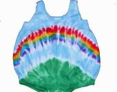 Baby Girls Romper in Rainbow Tie Dye