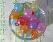 Big Colorful Balloon charm 8pcs Random colors  New item