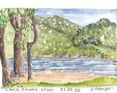 Lake Poway ~ original watercolor