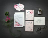 Vintage Rose Garden Wedding Invitations Perfect for Spring and Summer -- PDF or Printed For You