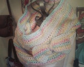 Sale Sale!!!Fairy Floss Big Candy Scarf Wrap with Detachable Bow