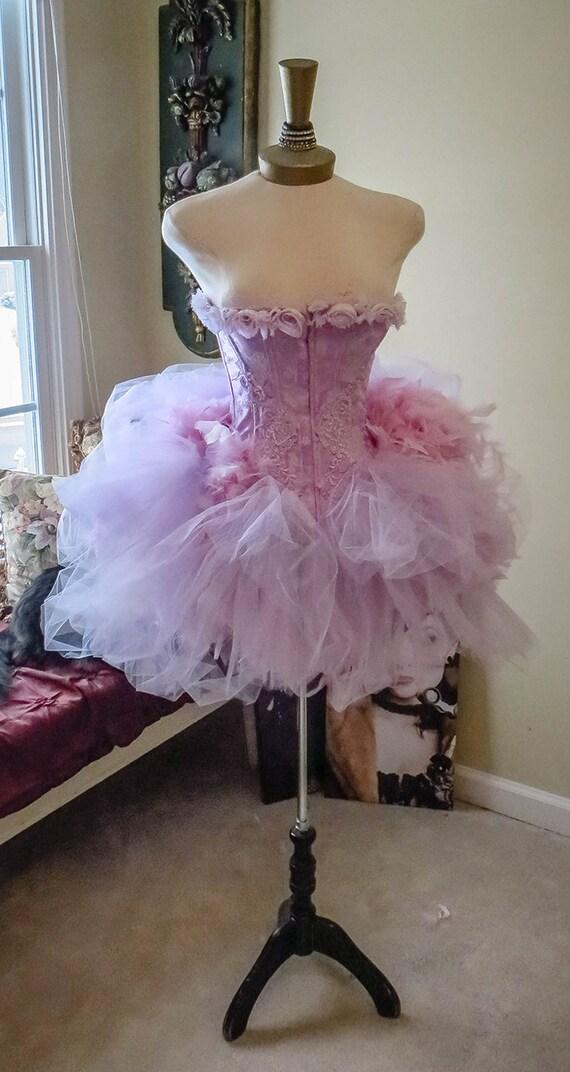 Victoria Velvet Wisteria Dreams Ready To Ship Corset Costume S - M
