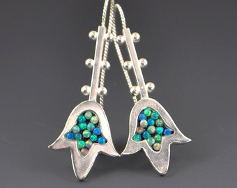 Hamsa Mosaic Earrings