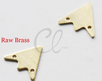 40pcs Raw Brass Triangle Charm - 12mm (1915C-Q-274)