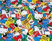 Sanrio Fabric Hello kitty 50 cm by 106 cm or 19.6 by 42 inches Half Meter