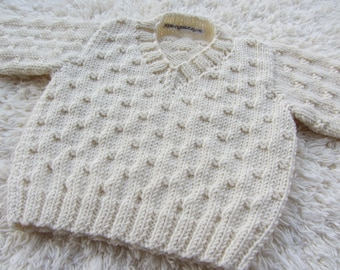 Hand Knit Bamboo Baby Sweater