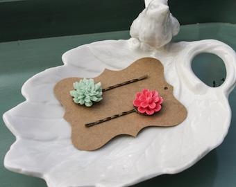 Flower Hair Pins - Set of 2