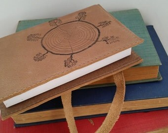 Leather journal or sketchbook free personalization