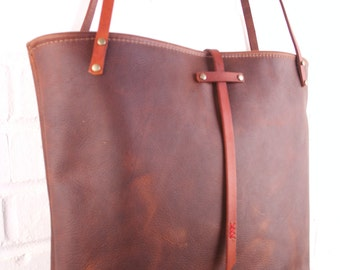 leather market bag tote from in blue