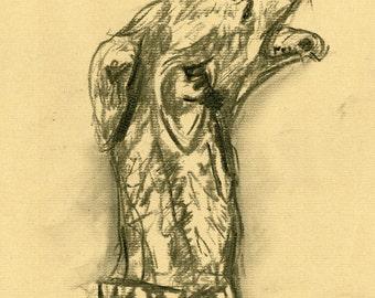 Dog Art Whippet Greyhound  Print