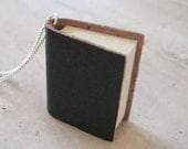 Leather Book Necklace, Writer Necklace, Author gifts