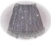 Sparkle Silver Glitter Rhinestone Tulle NIGHT LIGHT Glitz Glitter and Shine Great Gift
