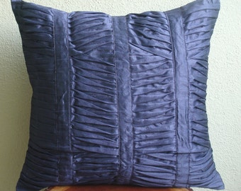 Decorative Throw Pillow Covers Couch Pillow Case Sofa Pillow Bed Pillows 20x20 Inch Silk Pillow Cover Home Living Decor Dark Blue Beauty