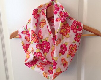 Infinity scarf cotton   hand made ready to ship beautiful colors for spring
