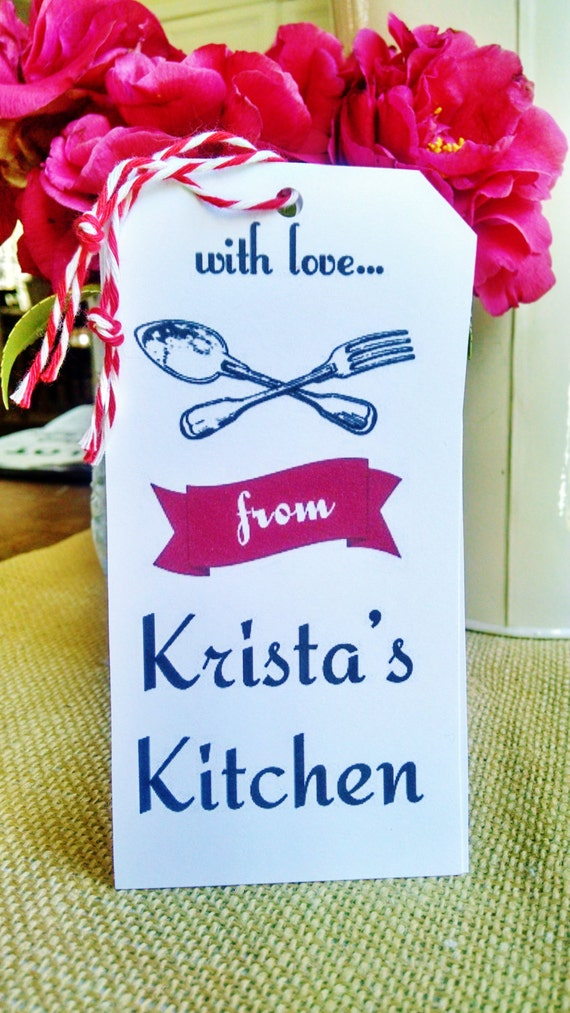 Personalized Gift Tags Custom Kitchen Tags Rustic By Thegirlsmom