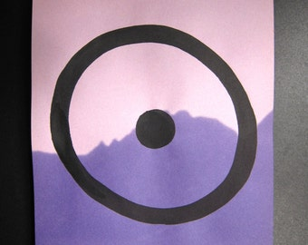 Peace - minimalist painting on clipping