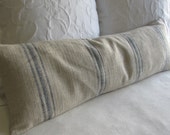 FRENCH LAUNDRY 12x36 long Pillow Cover in BLUE Stripes