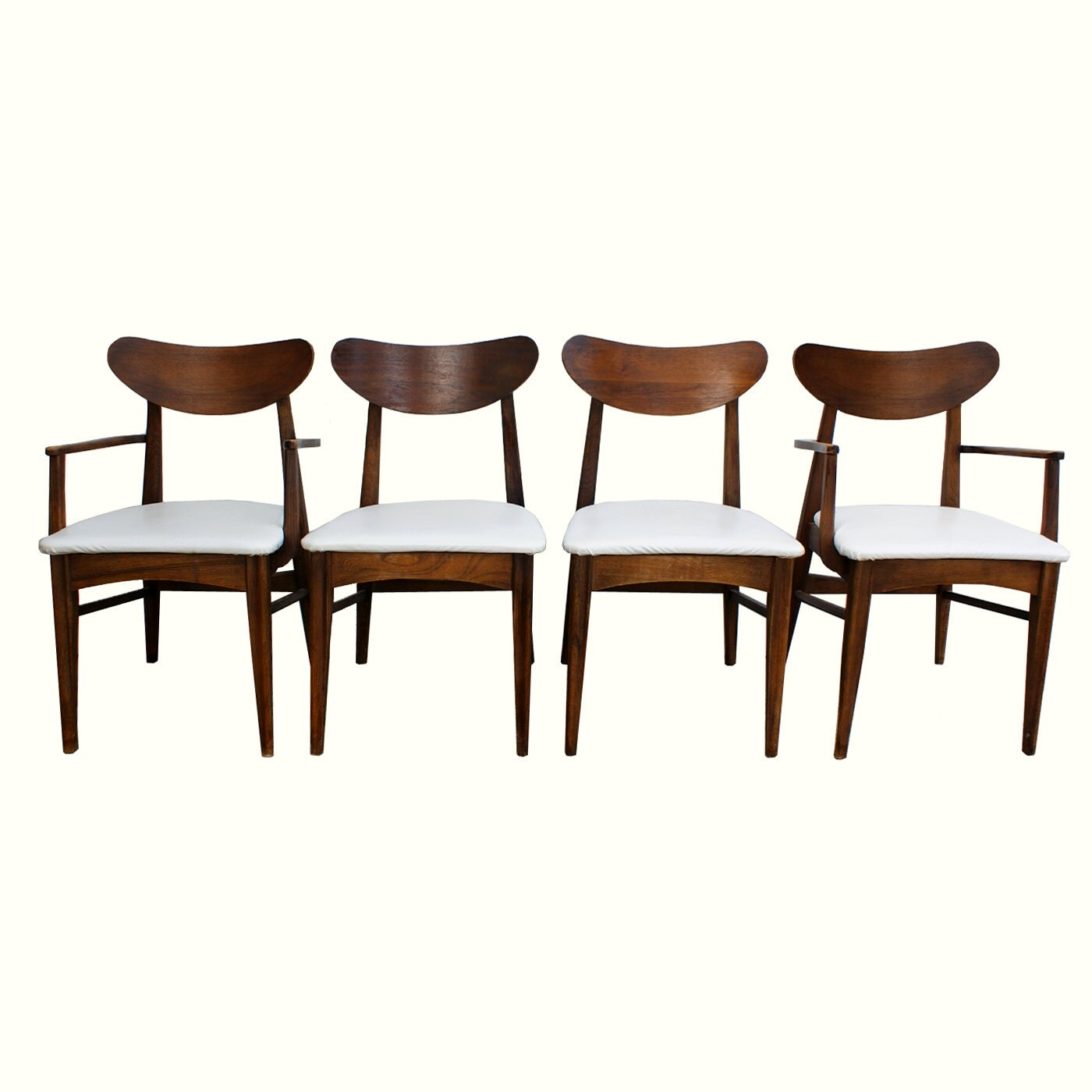 1950s 60s danish modern style dining chairs set of 4 for Designer chairs from the 60s