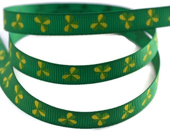 Shamrock Ribbon, St Patricks Day Ribbon, Clover Ribbon, St Pattys Day Ribbon, Irish Ribbon, Lucky Ribbon, St Patricks Day DIY, Irish Theme