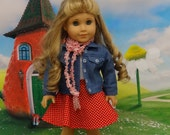 Sweetheart Next Door - Skirt set and jean jacket for American Girl doll