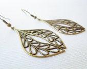 Moroccan Brass Drop Earrings