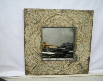 TIN Ceiling Tile TAN Mirror Shabby (Chic) Authentic Recycled S2187-14