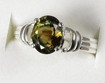 Multi Color Tourmaline 1.81 carats Handset in .925 Sterling Ring  NOW on SALE  -  Fast Free  Shipping
