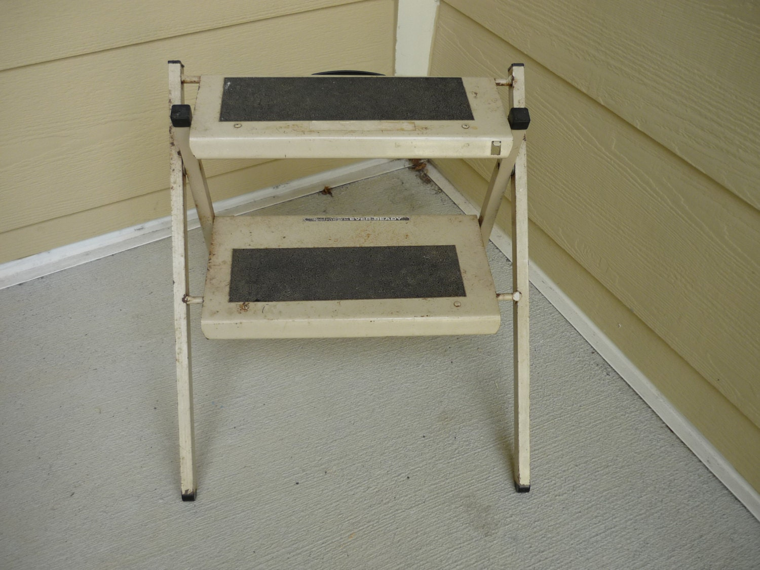 step stool two step folding step stool ready steps by. Black Bedroom Furniture Sets. Home Design Ideas