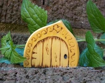 Wooden Fairy Door Magnet  2 1/2 inch Magic Unique Gothic