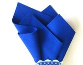 Royal Blue, Large Felt Sheet, 100% Wool, Three Sizes, Waldorf Handwork, DIY Felt Craft, Sewing Fabric, Nonwoven Wool
