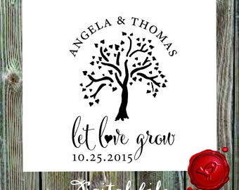 Let LOVE Grow DIGITAL downlowd  modern design caligraphy fonts - style HS1313-  Digital File, Print Anywhere