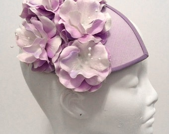 HYDRANGEA Flower Race Fascinator Hat