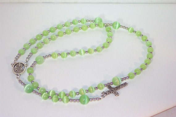Cats Eye Rosary - Jewish, Catholic or Anglican, Made to Order - Choice of Colors - SHIPS WITHIN 24 Hrs