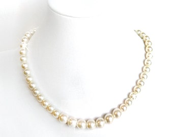 Classic Pearl Necklace - Sterling Silver - Pearls - Bridal Necklace - Wedding Pearl Necklace