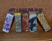 4 Hand Crafted Artisan Soaps MIX and MATCH 20.00 Goats Milk Spa Soap and Luxury Soap Bars Choose from over 20 soaps!