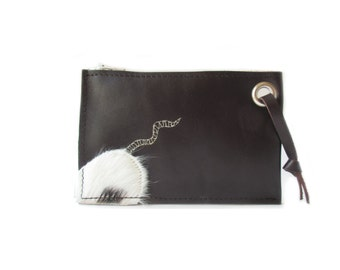 brown leather wallet mouse