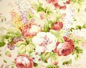 "Shabby Chic Curtains, Cottage Style Decor, Custom Rod-Pocket, Floral Curtains, Feminine Curtains, Custom Drapery Panels, One Pair 50""W"
