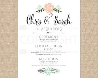 trendy wedding entrance signwedding welcome sign schedule of eventswedding canvas or wedding